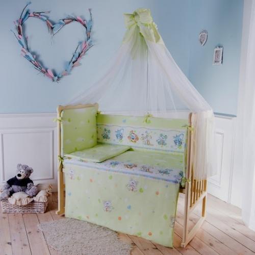 Комплект детского постельного белья Баю-бай Улыбка 7 предметов