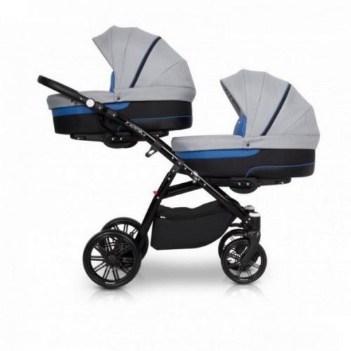 Детская модульная коляска для двойни Riko Team 2 в 1