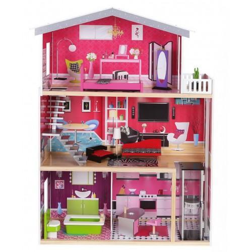"""Детский кукольный домик Delia """"Malibu"""" с лифтом арт.4118"""
