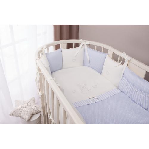 Детское постельное белье Perina Неженка Oval (голубой)