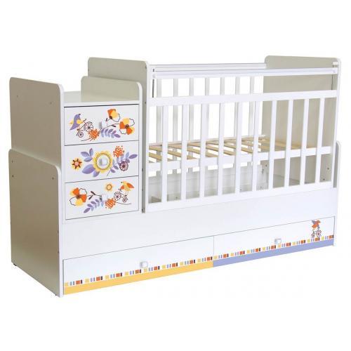 Детская кроватка-трансформер Фея 1100 с фотопечатью