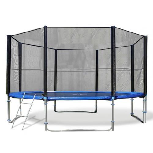 Батут Trampoline Fitness 14FT-Extreme с сеткой и лестницей