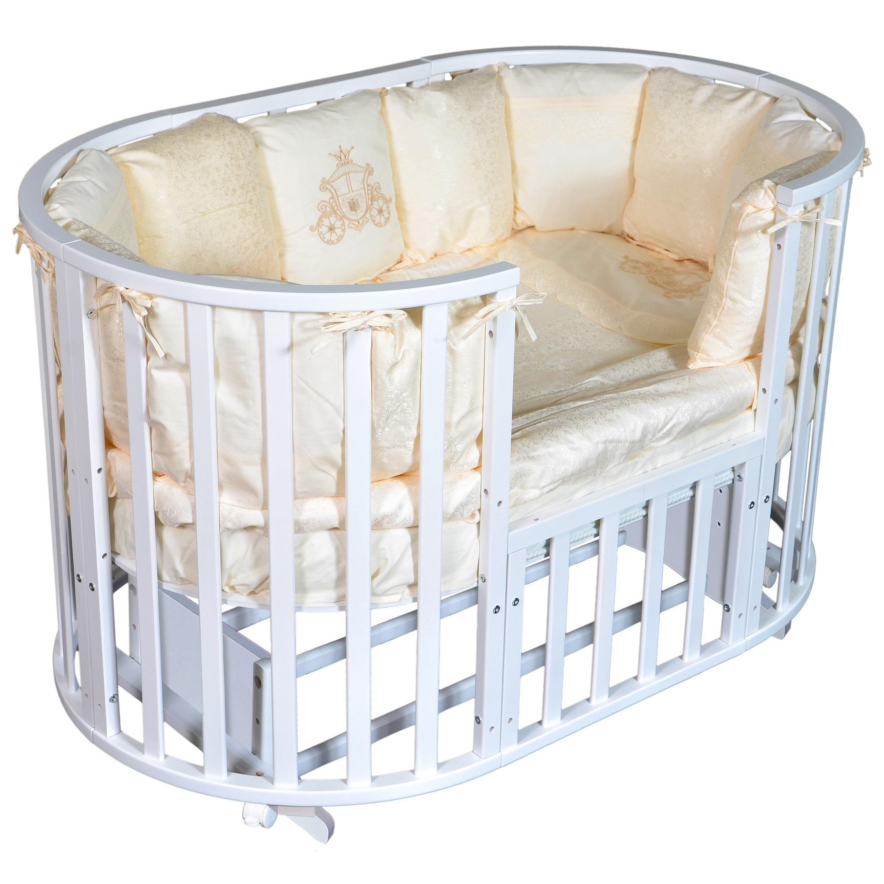 Детская кроватка с универсальным маятниковым механизмом RAY (КЕДР) Alexa-2
