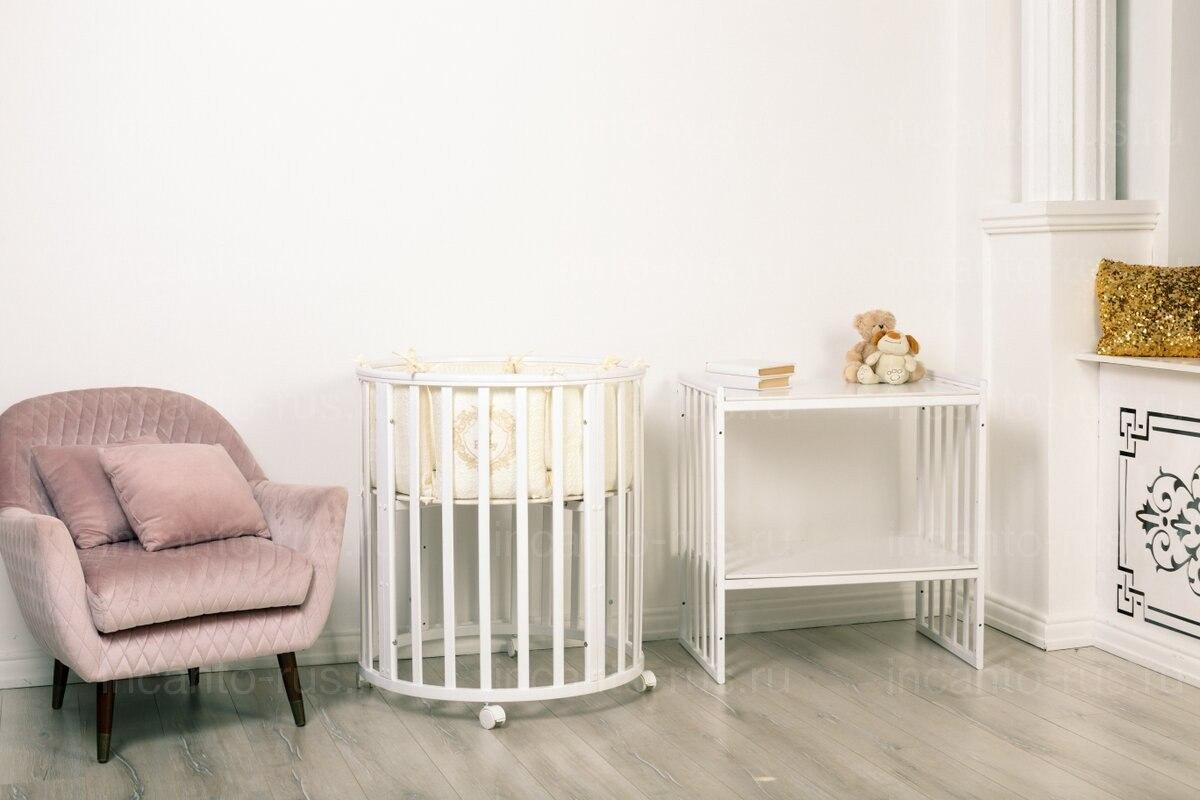 Детская кроватка INCANTO Amelia маятник 8 в 1