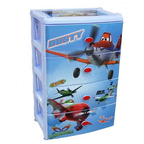 Пластиковый комод Башпласт Самолеты Дисней М2221