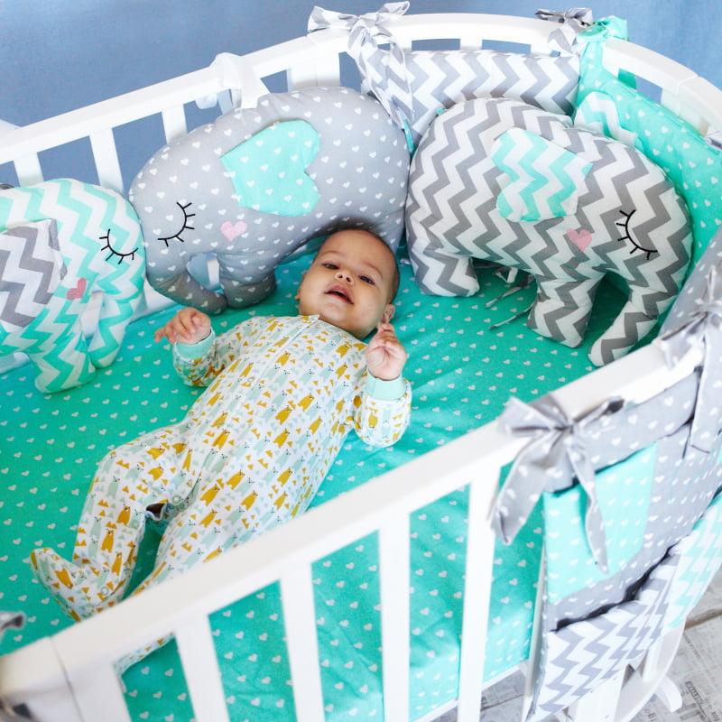 Комплект детского постельного белья Топотушки Слоники 6 предметов