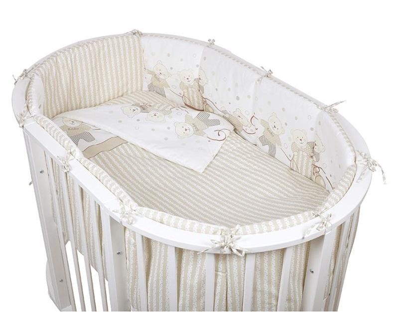 Детское постельное белье в овальную кроватку Pituso Мишки 6