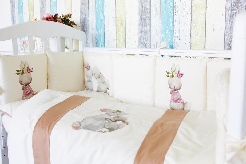 Комплект детского постельного белья Топотушки Зайка-Акварель 6 предметов