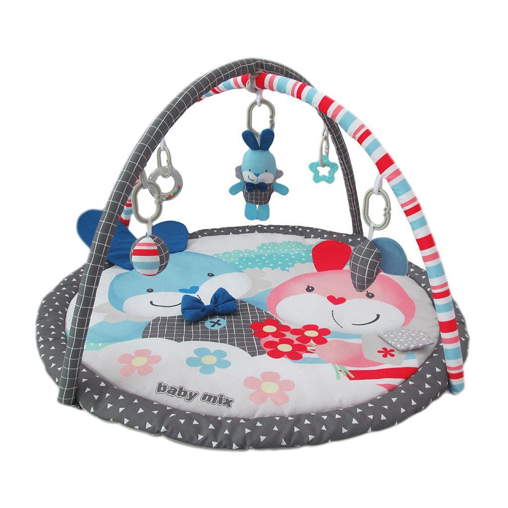 Детский игровой развивающий коврик BabyMix Кролики Арт.45017