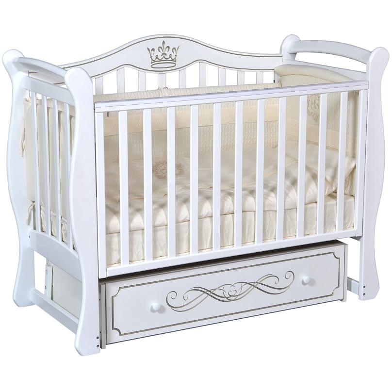 Детская кроватка с универсальным маятниковым механизмом Ray (КЕДР) Elizabeth-1