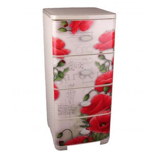Пластиковый плетеный комод Башпласт Маки М2449