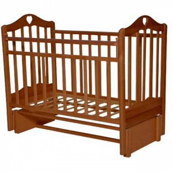 Детская кроватка с маятником продольного качания Антел Каролина-5