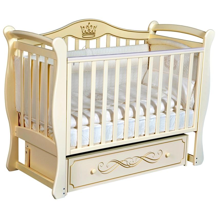 Детская кроватка с универсальным маятниковым механизмом КЕДР Grace-1