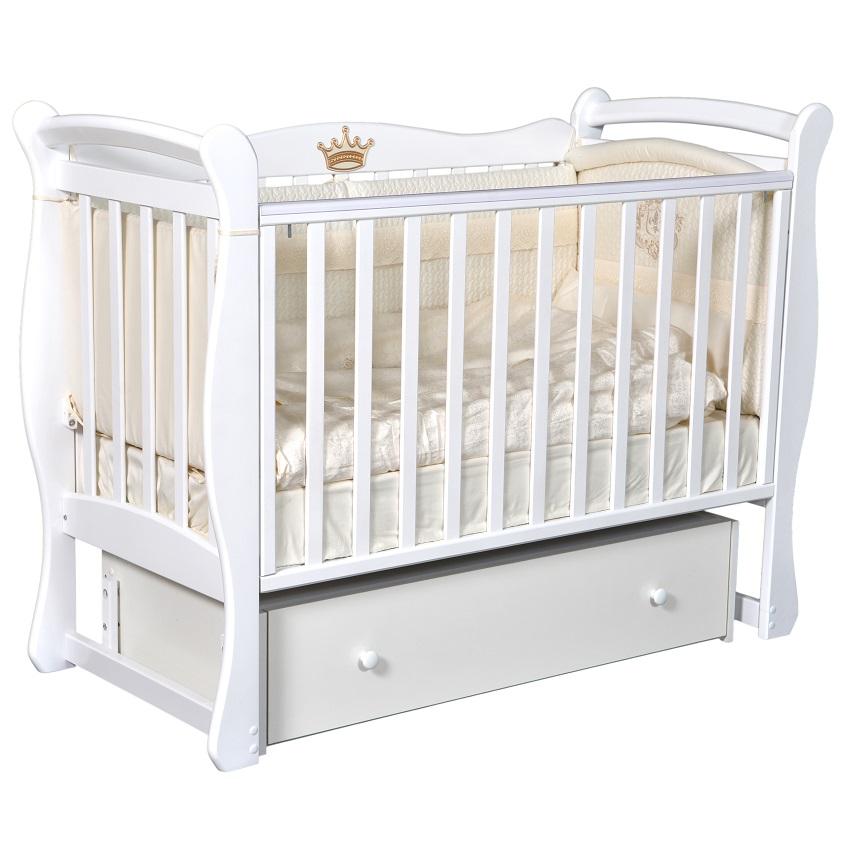 Детская кроватка с универсальным маятниковым механизмом КЕДР Viola-1