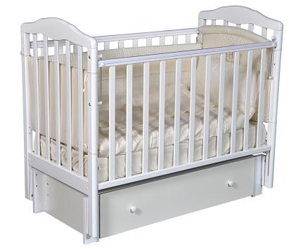 Детская кроватка с универсальным маятниковым механизмом RAY (КЕДР) Erika-3