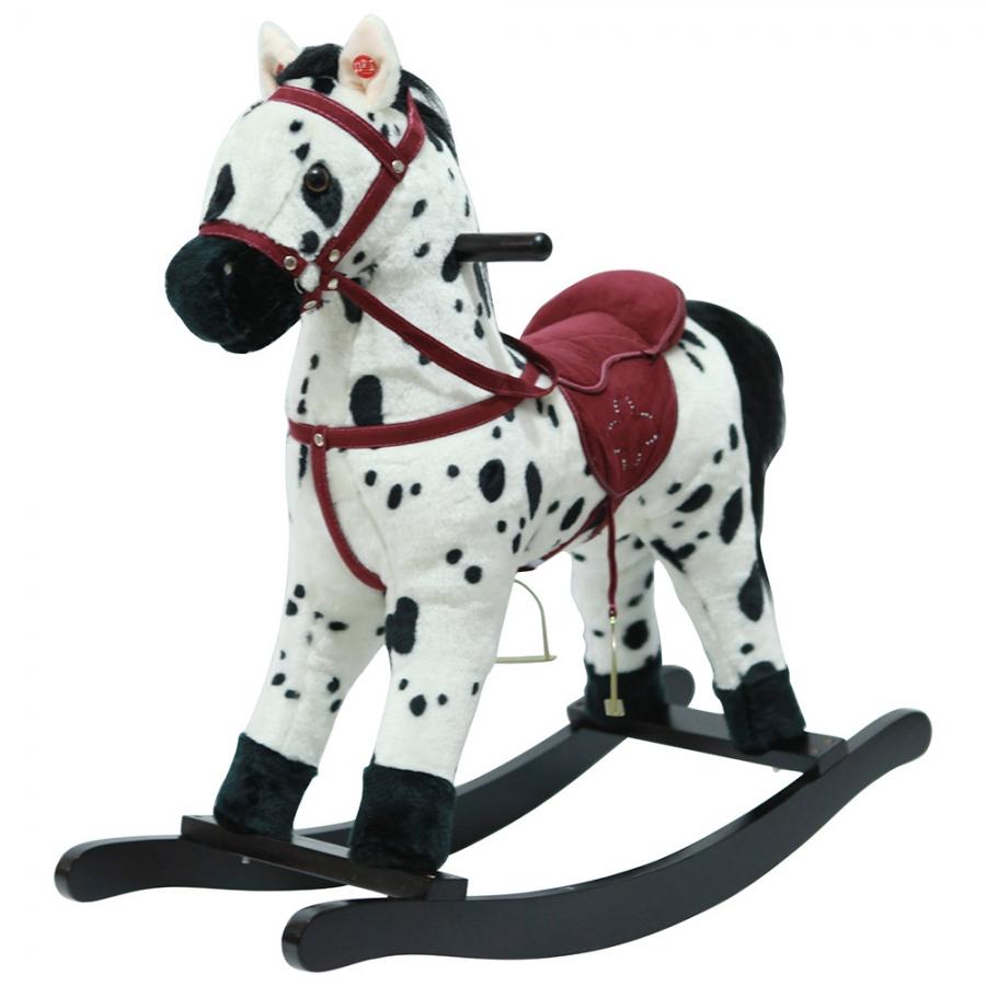 Качалка-лошадка Pituso Белый с черными пятнами GS2035