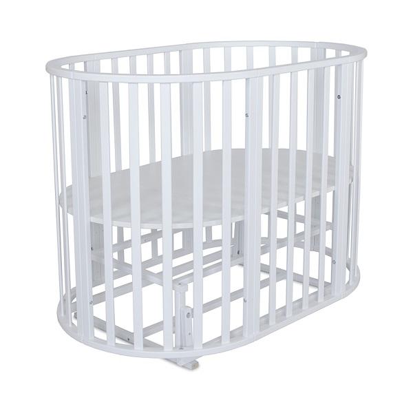 Детская круглая-овальная кроватка СКВ 108001 6 в 1