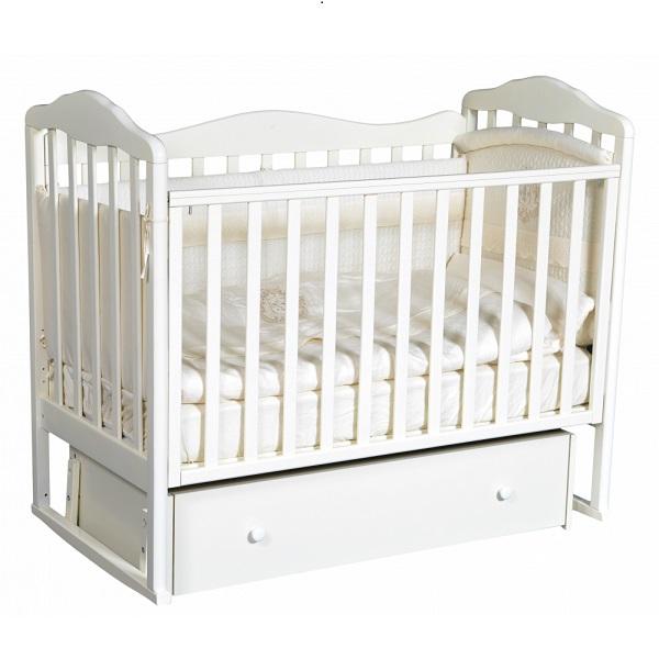 Детская кроватка с универсальным маятниковым механизмом RAY (КЕДР) Erika-4