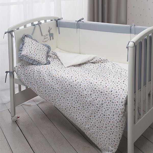 Комплект детского постельного белья Perina Little forest Аквамарин 7