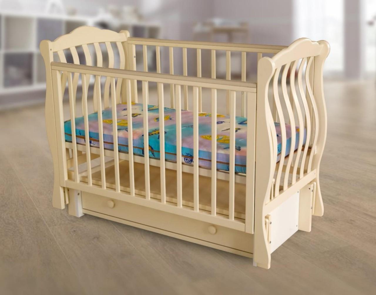 Детская кроватка с продольным маятниковым механизмом Белорусочка 7.2