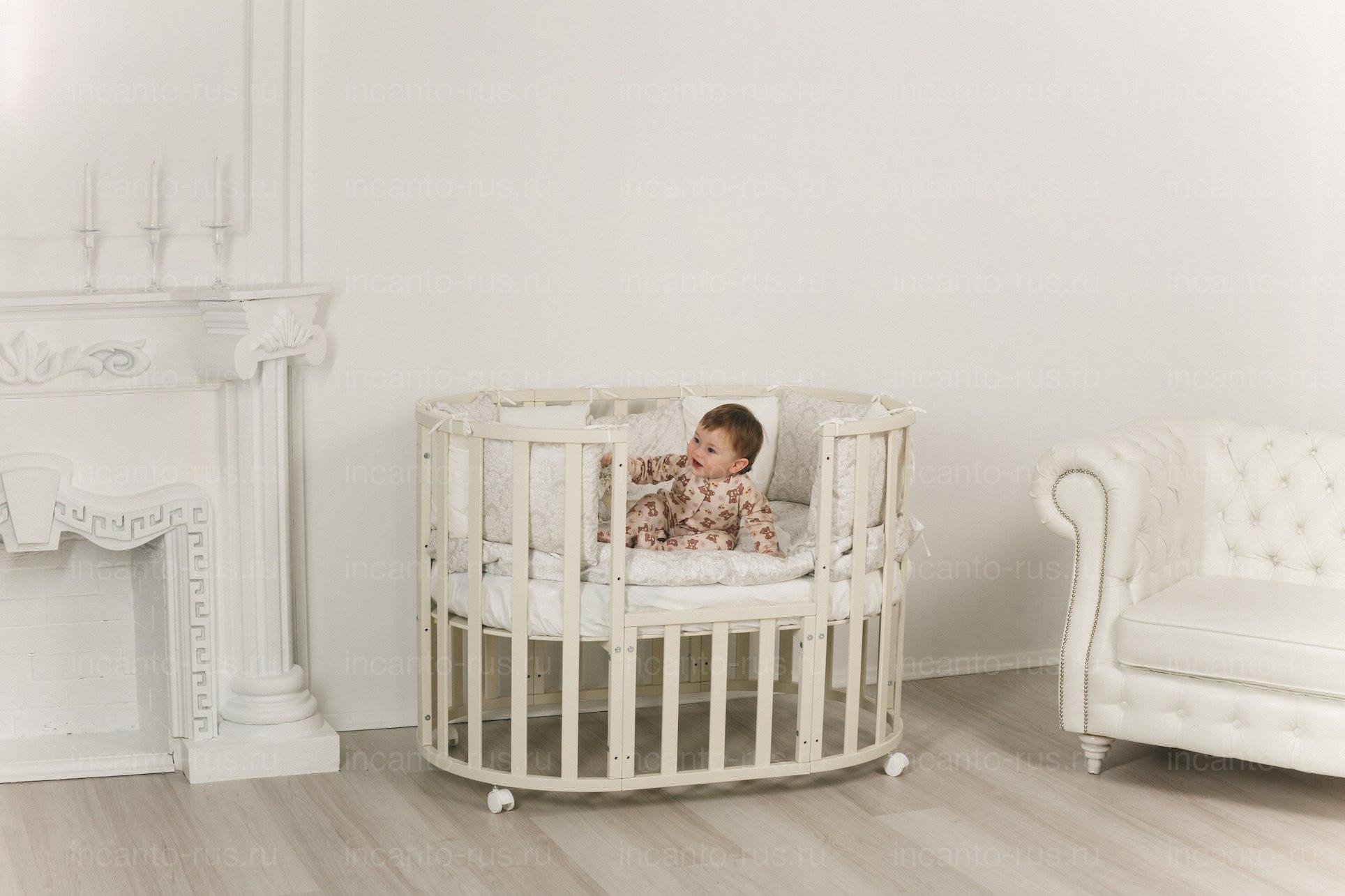 Детская кроватка INCANTO Uoma Da Vinci  колесо 10 в 1
