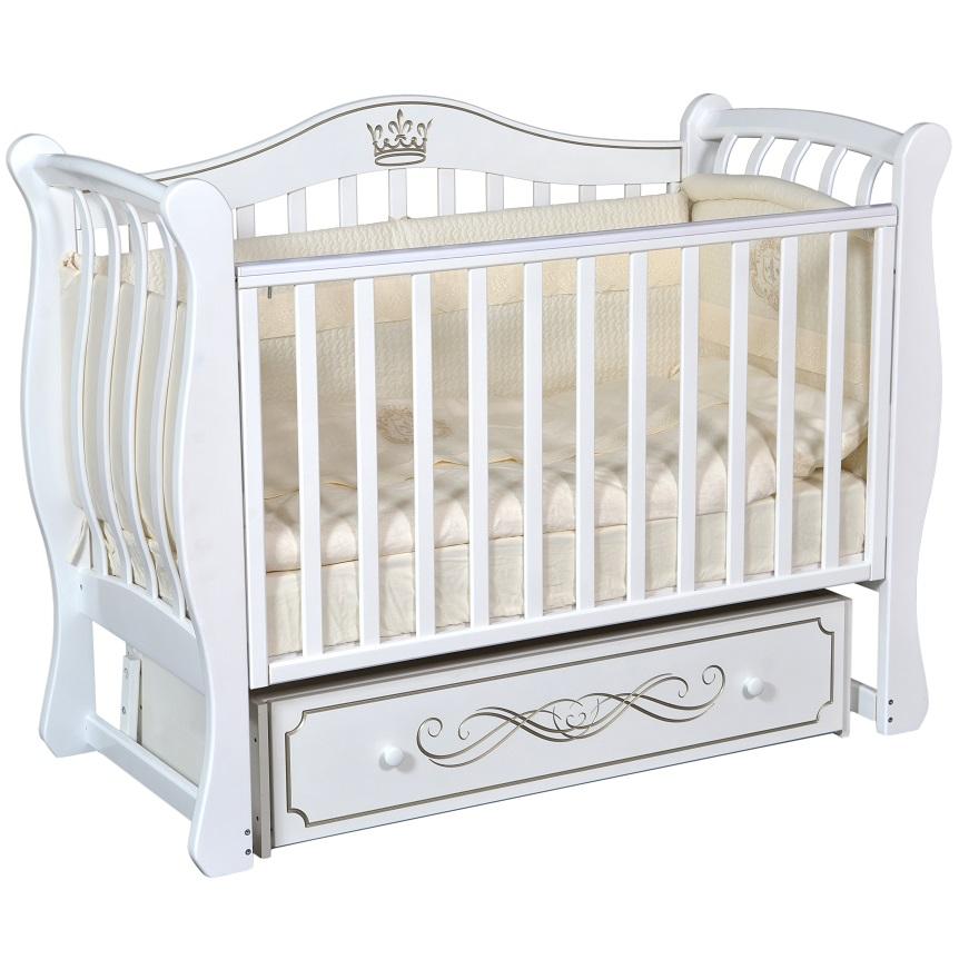 Детская кроватка с универсальным маятниковым механизмом RAY (КЕДР) Karoline-2