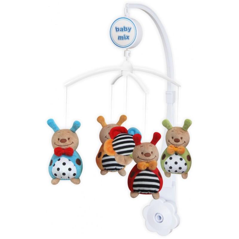 Каруселька с плюшевыми игрушками BabyMix Божьи коровки Арт.368М