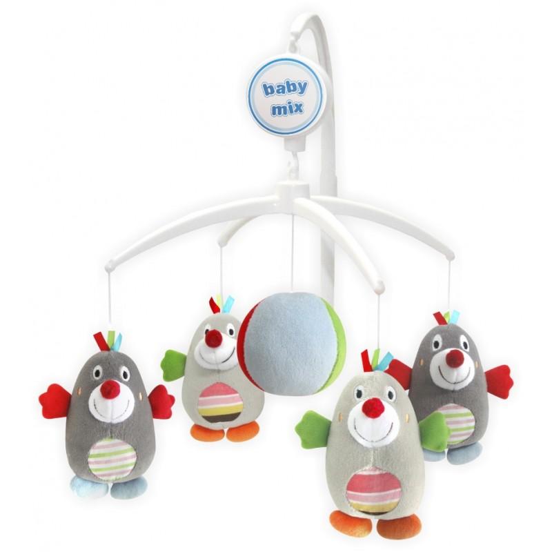 Каруселька с плюшевыми игрушками BabyMix Кротики Арт.350М