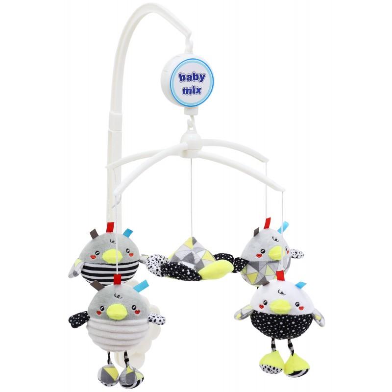 Каруселька с плюшевыми игрушками BabyMix Птички Арт.478М