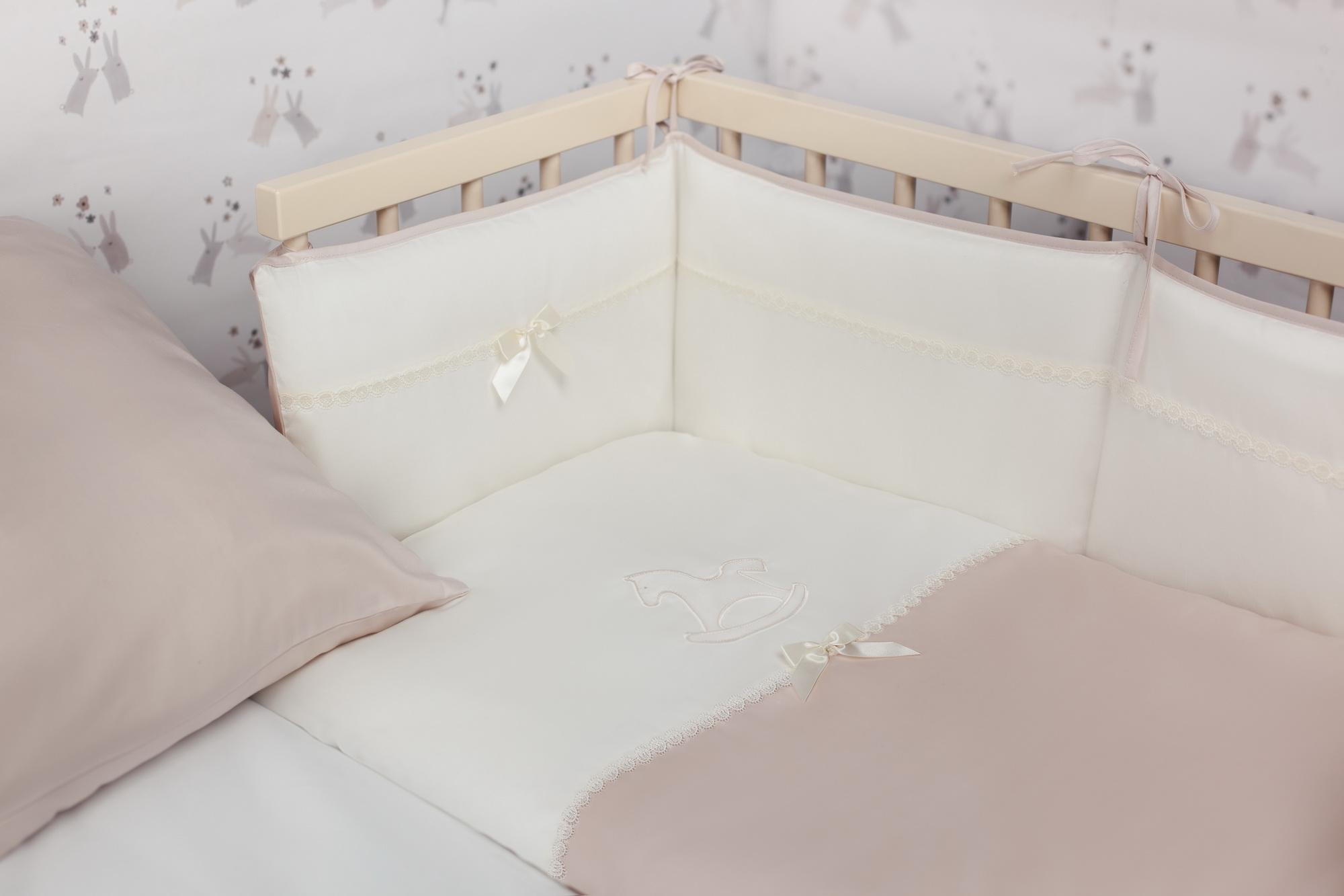 Детское постельное белье для приставных кроваток Perina Лошадка Mini 4 предмета