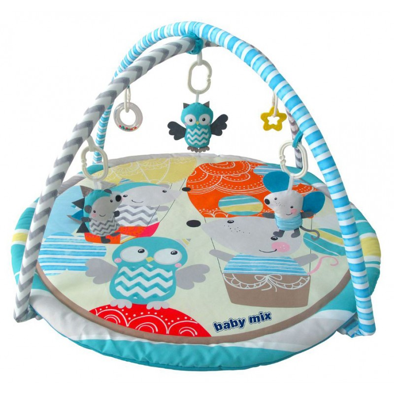 Детский игровой развивающий коврик BabyMix Три друга Арт. 3464