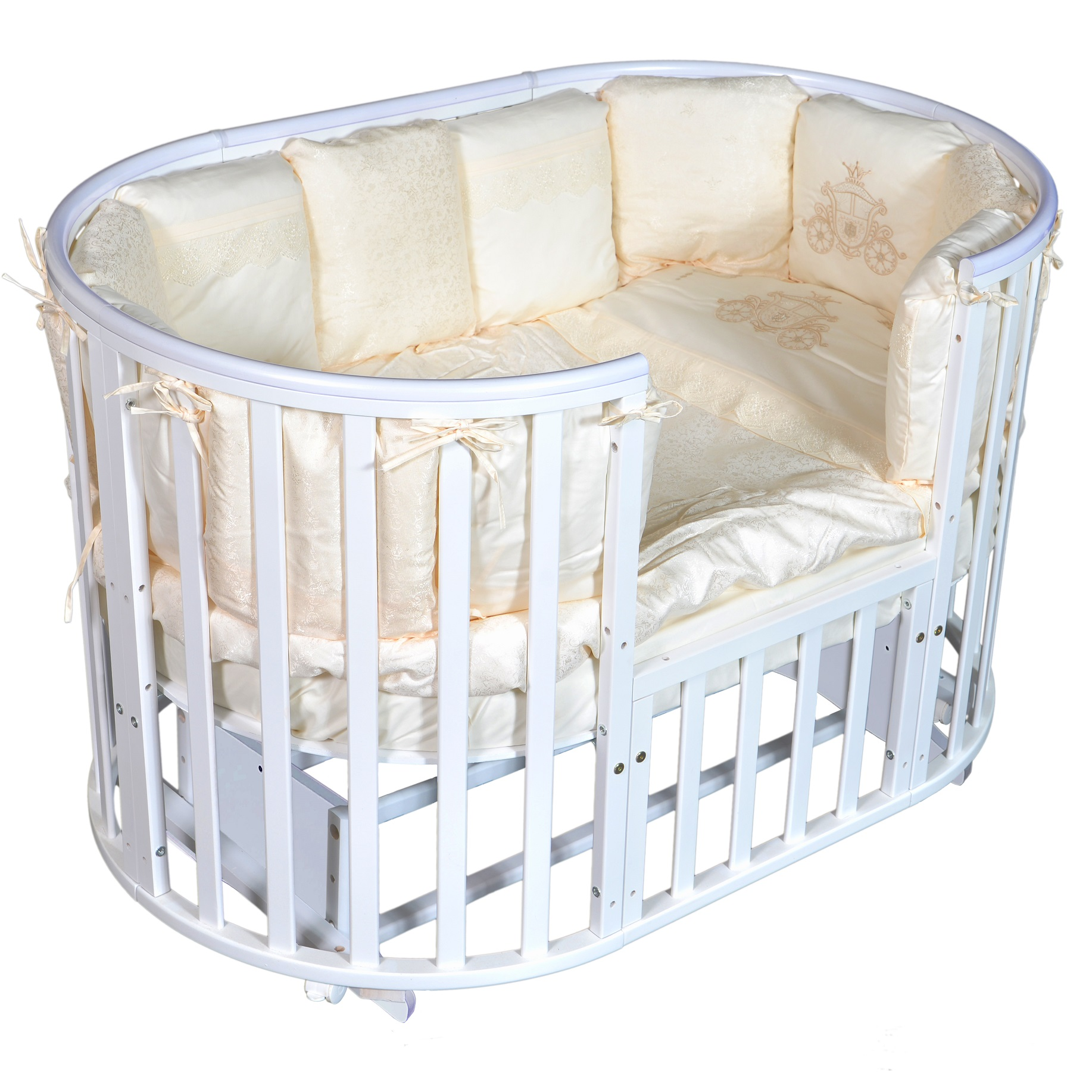 Детская кроватка с универсальным маятниковым механизмом RAY (КЕДР) Alexa-4
