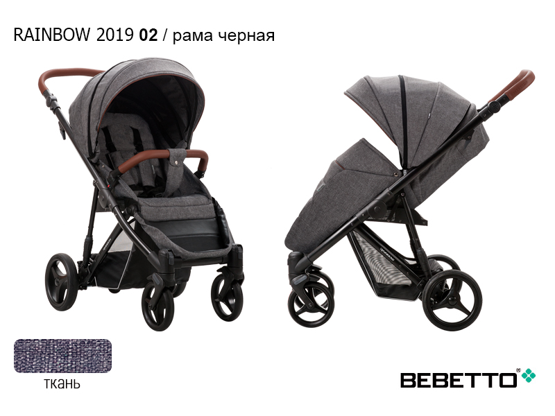 Детская прогулочная коляска Bebetto Rainbow 2019