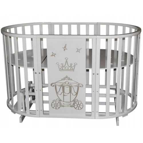 Детская кроватка с универсальным маятниковым механизмом RAY (КЕДР) Alexa-2 короны