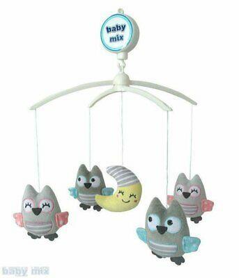 Каруселька с плюшевыми игрушками BabyMix Совы и луна Арт.TK/497М