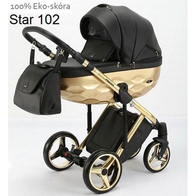 Детская модульная коляска Adamex Chantal Star Eco 3 в 1
