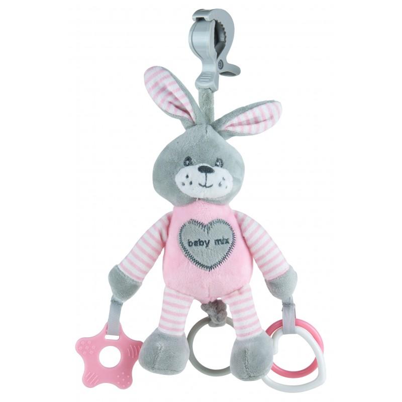 Подвесная игрушка с вибрацией BabyMix Зайка