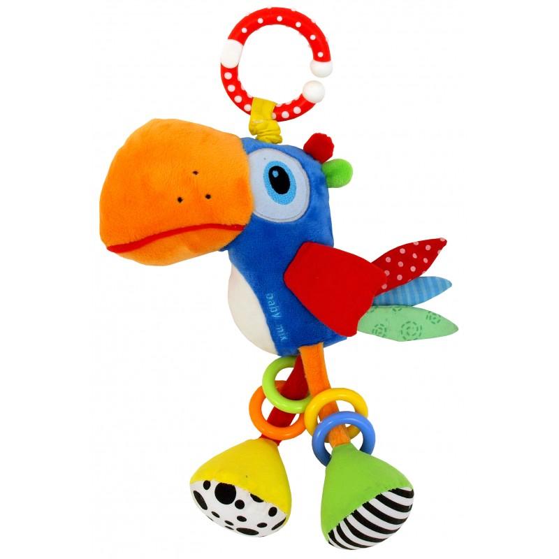 Подвесная игрушка с вибрацией BabyMix Попугай