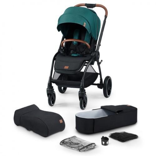 Детская модульная коляска KinderKraft EVOLUTION COCOON (Midnight green) 2 в 1