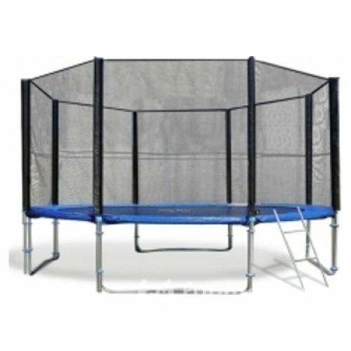 Батут Trampoline Fitness 12FT-Extreme с сеткой и лестницей