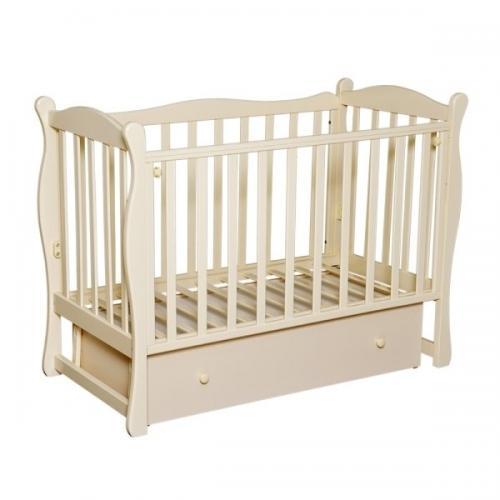 Детская кроватка с маятником поперечного качания Антел Северянка 2