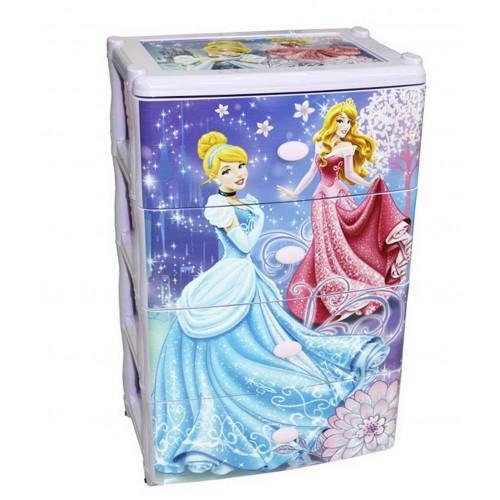 Пластиковый комод Башпласт Принцессы-Дисней М2222