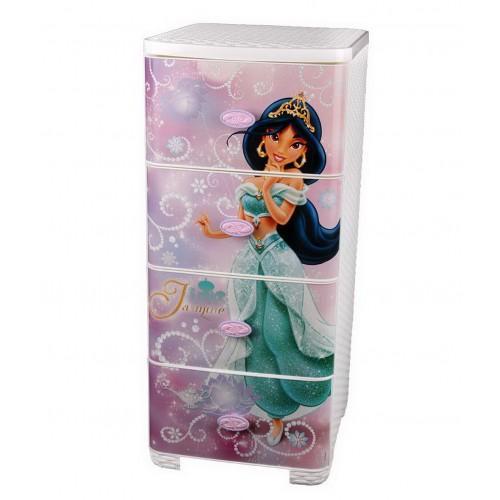 Пластиковый плетеный комод Башпласт Принцессы Диснея