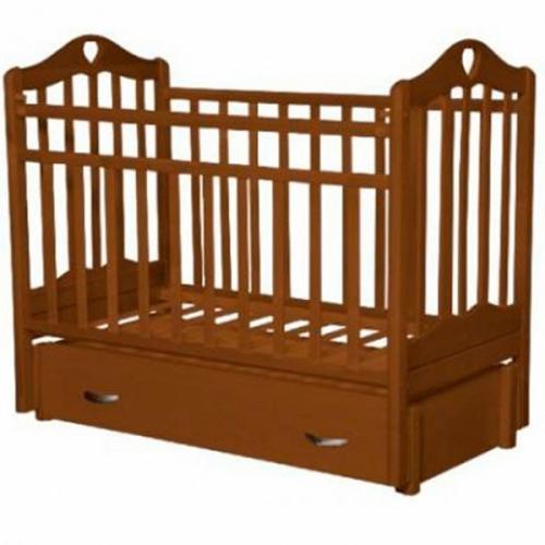 Детская кроватка с маятником продольного качания Антел Каролина-6