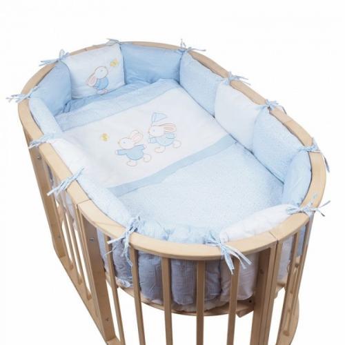 Детское постельное белье в овальную кроватку Pituso На лужайке 6