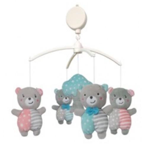 Каруселька с плюшевыми игрушками BabyMix Медвежата Арт.TK/496М