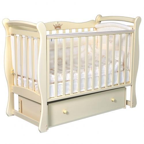 Детская кроватка с универсальным маятниковым механизмом RAY (КЕДР) Venecia-1