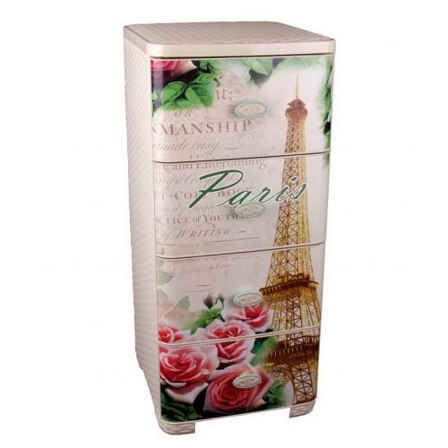 Пластиковый плетеный комод Башпласт Париж М2447