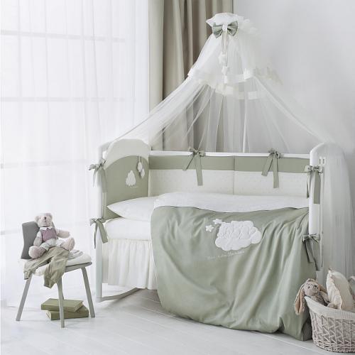 Детское постельное белье Perina Бамбино (Олива) 7 предметов