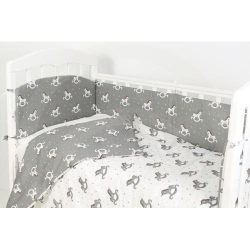 Комплект детского постельного белья Топотушки Фантазия Лошадки 6 предметов